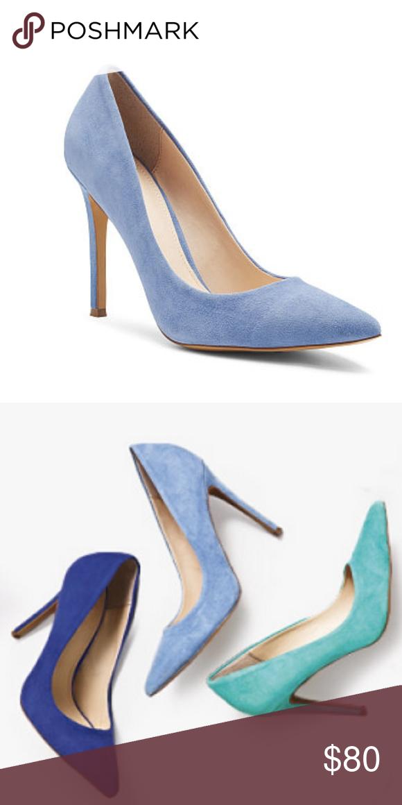e31398f6eca Victoria's Secret Periwinkle Blue Suede Pumps These high heel pumps ...