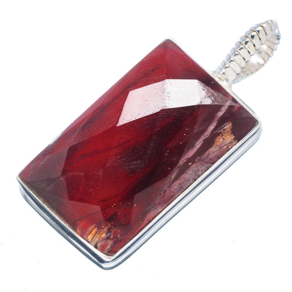"""Rare Mookaite 925 Sterling Silver Pendant 1 3/4"""" PD532213"""