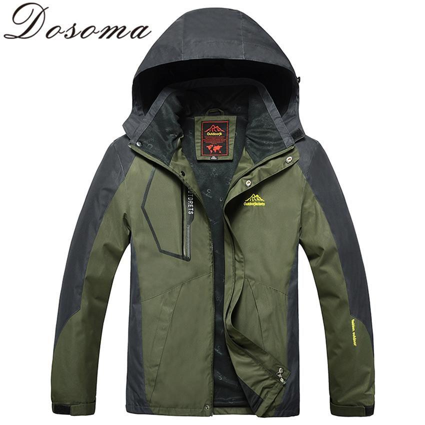 best priceL-8XL Autumn Men Outdoor Waterproof Jacket Camping ...