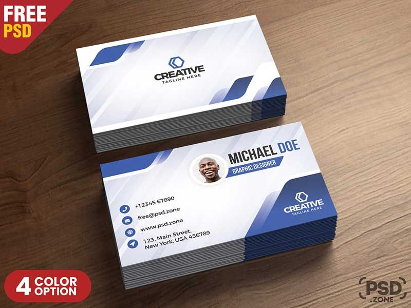 15 Free Printable Business Card Templates Psd 2018 Modern Business Cards Free Printable Business Cards Business Card Template Psd