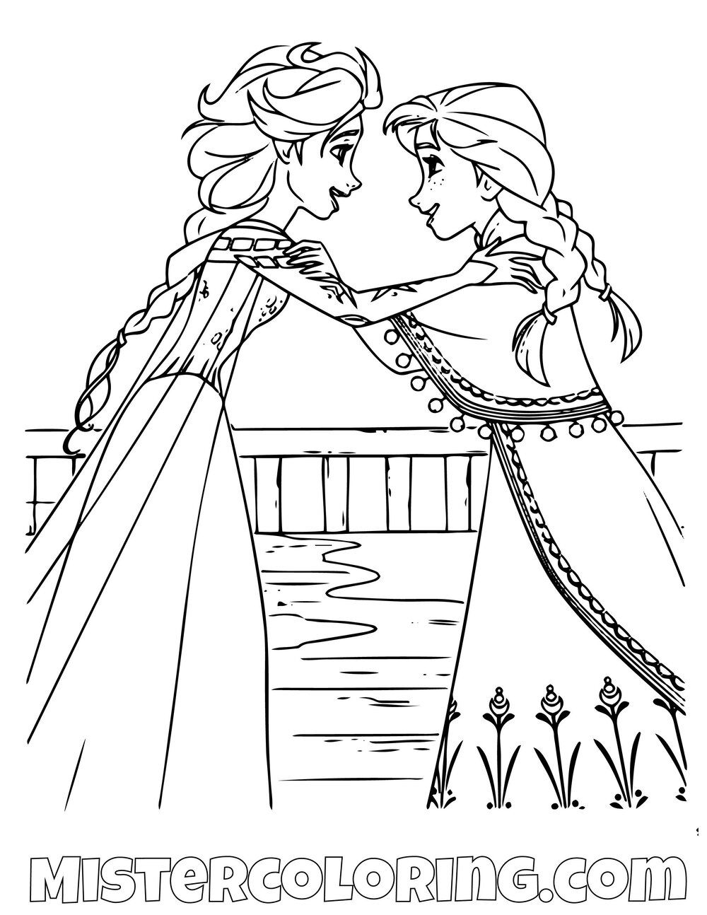 Queen Elsa And Princess Anna Talking Frozen 2 Coloring Pages For Kids Coloring Pages Coloring Pages For Kids Color