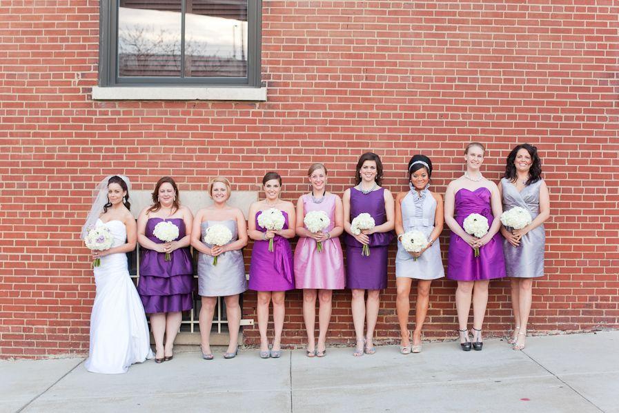 ombre bridesmaid dresses | Samantha Laffoon Photography | Pinterest