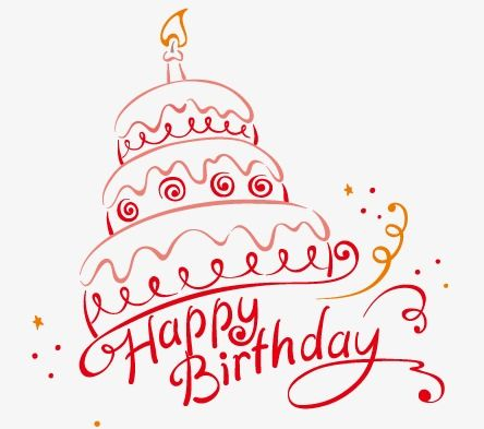 Birthday Cake Line Drawing Candle Birthday Vector Cake Vector
