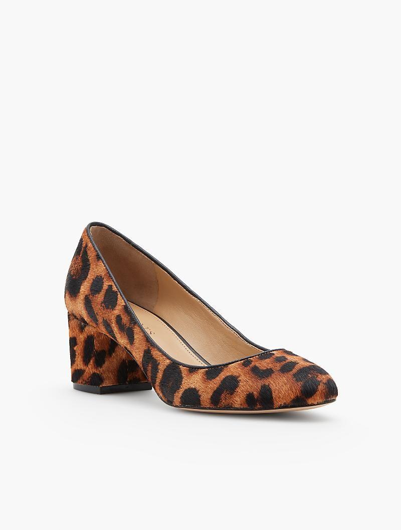 704ebcc1d Isa Block-Heel Pumps - Leopard Haircalf