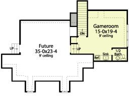 Upstairs plan for the downstairs Landry house plan