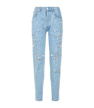 03c4c82db675c8 FORTE COUTURE Distressed Pearl Jeans. #fortecouture #cloth # | Forte ...