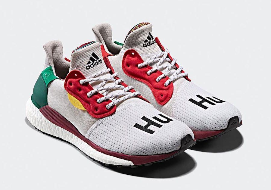 latest discount designer fashion undefeated x Pharrell x adidas Solar Hu Glide Pack Release Date