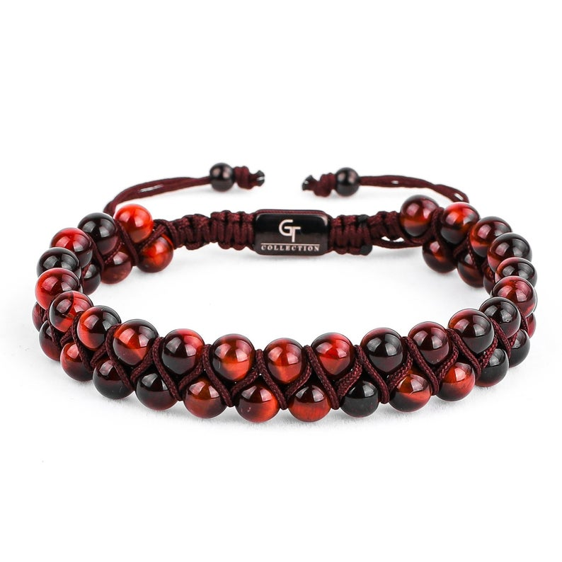 hematite /& gold center stone ajustable shamballa gemstone bracelet 8mm macrame for women Agate Lava rock Onyx Jasper men Tiger eye
