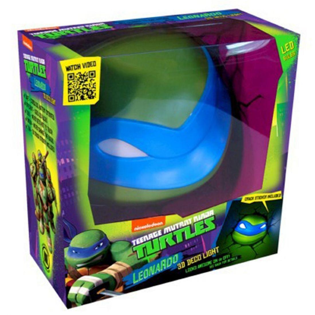 Teenage mutant ninja turtles tmnt d wall deco light leonardo