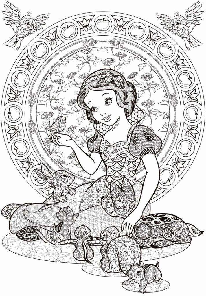 Disney Mandala Coloring Pages in 2020   Disney princess ...