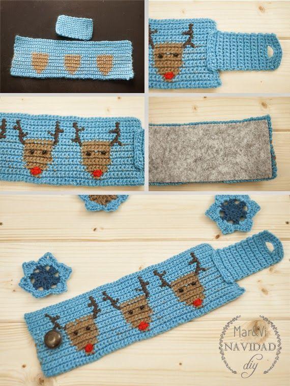 Funda para taza de crochet | Adornos navidad | Pinterest | Dibujo de ...