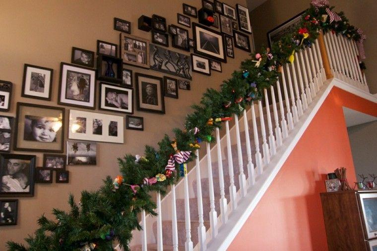 para decorar escaleras,75 propuestas para Navidad