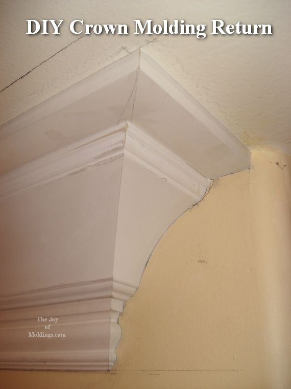 How To Return A Crown Molding To The Wall Diy Crown Molding Diy Crown Diy Shelves Bathroom