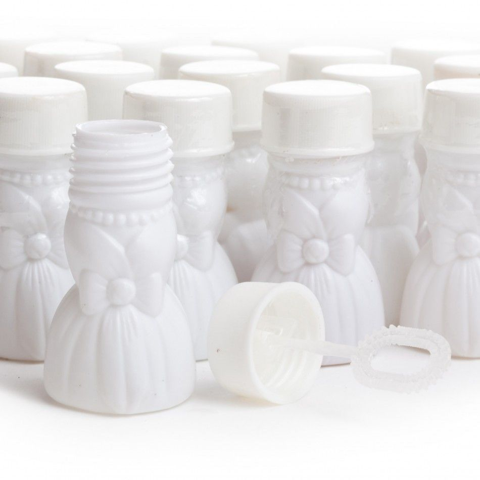 Bridal Dress Wedding Bubbles (24 Bottles = 29¢/Bottle) [F16-879 ...