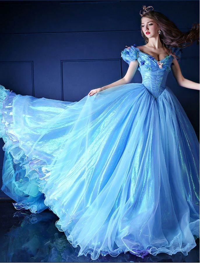 Cinderella inspired princess ball gown vintage style for Cinderella inspired wedding dress