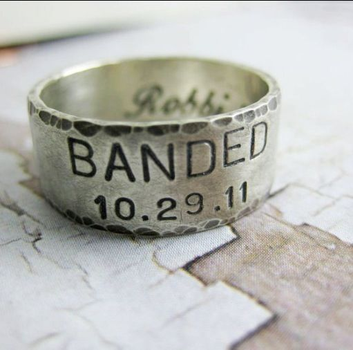 Men S Wide Sterling Silver Duck Band Wedding Ring Hammered Rustic Via Etsy