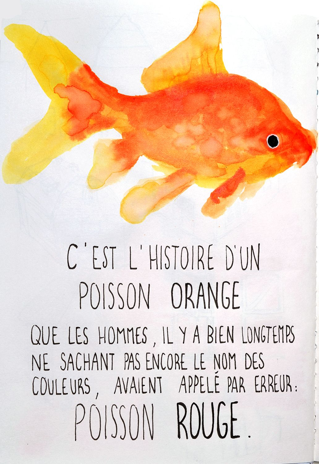 ENG. This is the story of an ORANGE FISH, who was named ...