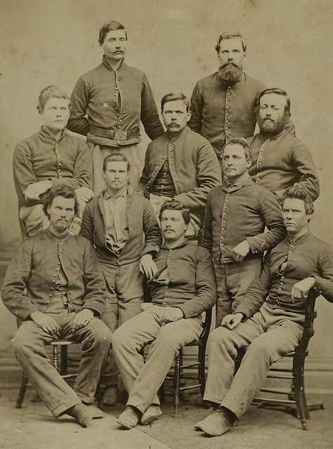 Group Portrait of Company I, 1st Wisconsin Cavalry | Civil war art ...