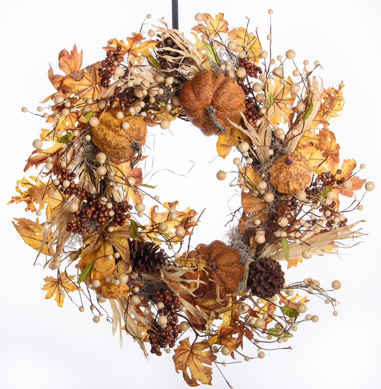 Gourds, Berries and Maple Wreath (FW710)