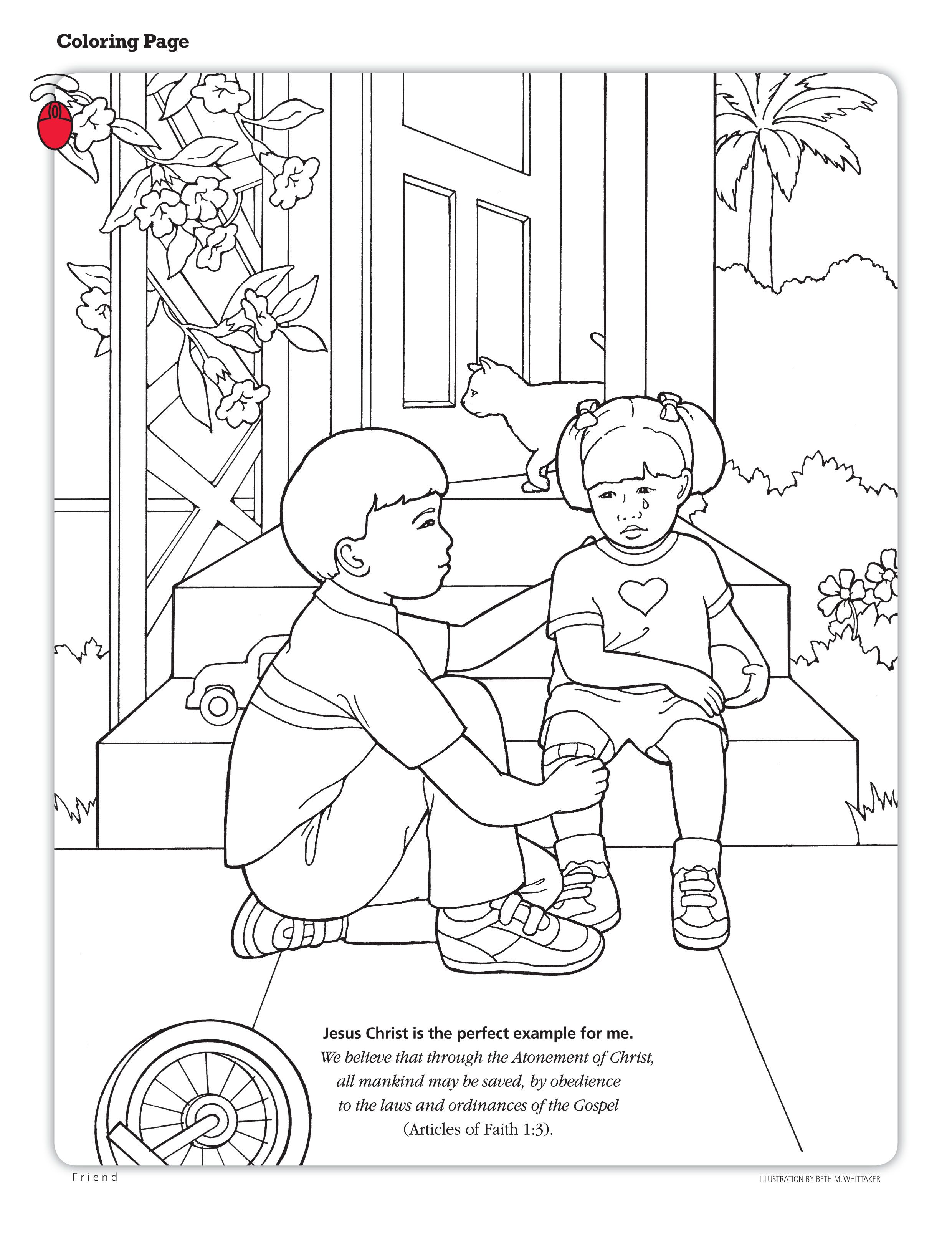 coloring page about the atonement | Lesson 22: The Atonement of ...