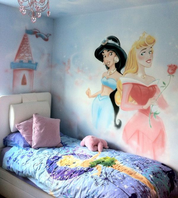 Painting Princess Wall Murals Decoration Ideas Picture