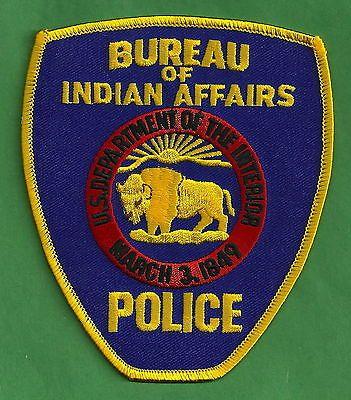 TRIBAL LAW ENFORCEMENT BUREAU OF INDIAN AFFAIRS  OFFICIAL POLICE SHOULDER PATCH