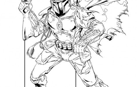 Boba Fett Coloring Pages Printable Star Wars Starwars Quote