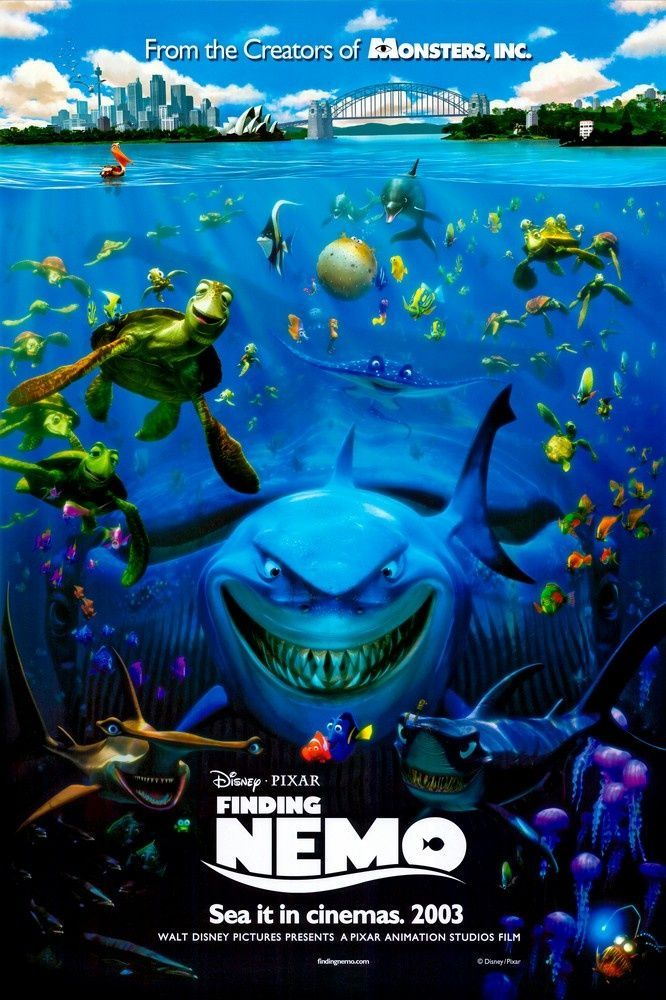 Large Solid-Faced Canvas Print Wall Art Print entitled Finding Nemo (2003)