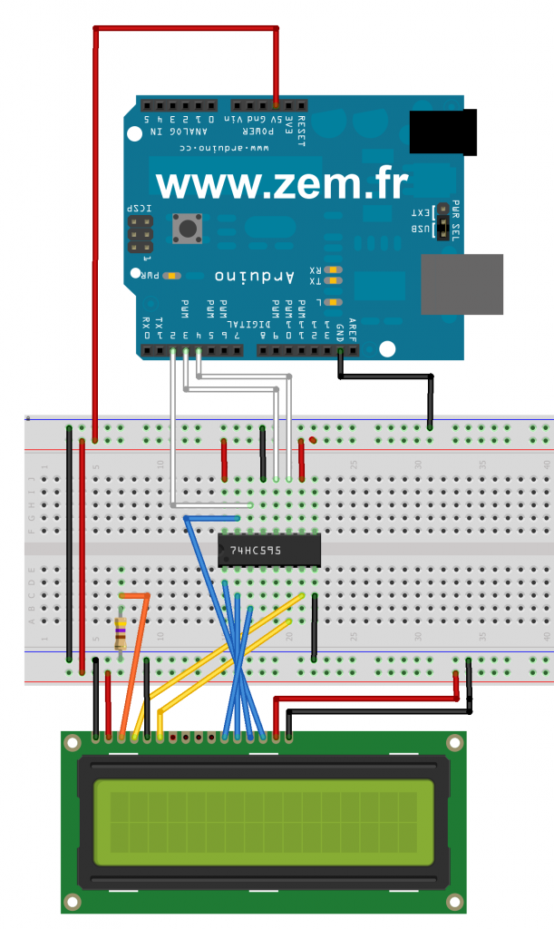 arduino lcd shift register 3wire | Arduino | Pinterest