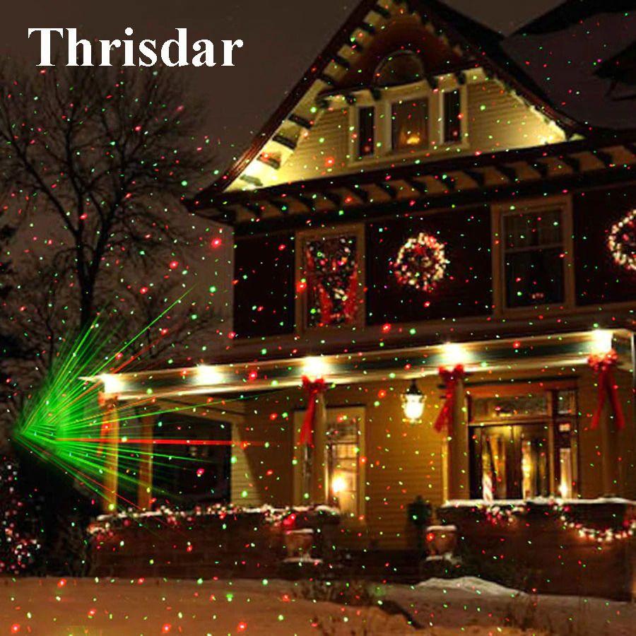 Christmas Laser Light Projector Moving Sky Stars Ip44 Indoor Outdoor New Year Thrisdar Chr Outdoor Christmas Lights Christmas Lights Outside Christmas Lights