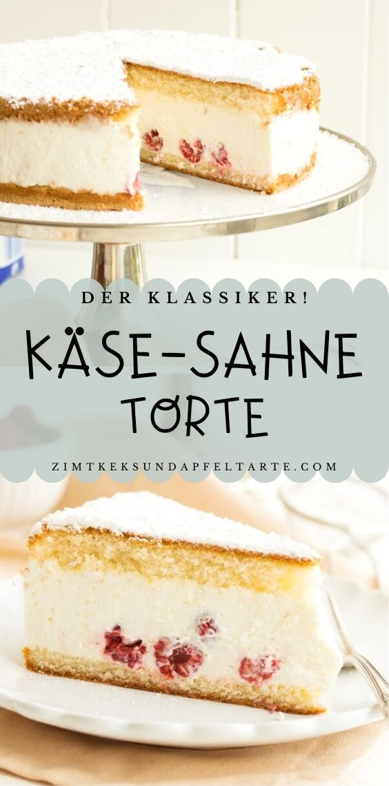 Käse-Sahne-Torte mit Himbeeren