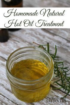 DIY Hot Oil Treatment for Hair - How to make a DIY hot oil treatment for hair using olive oil, avocado oil, honey, and essential oils.
