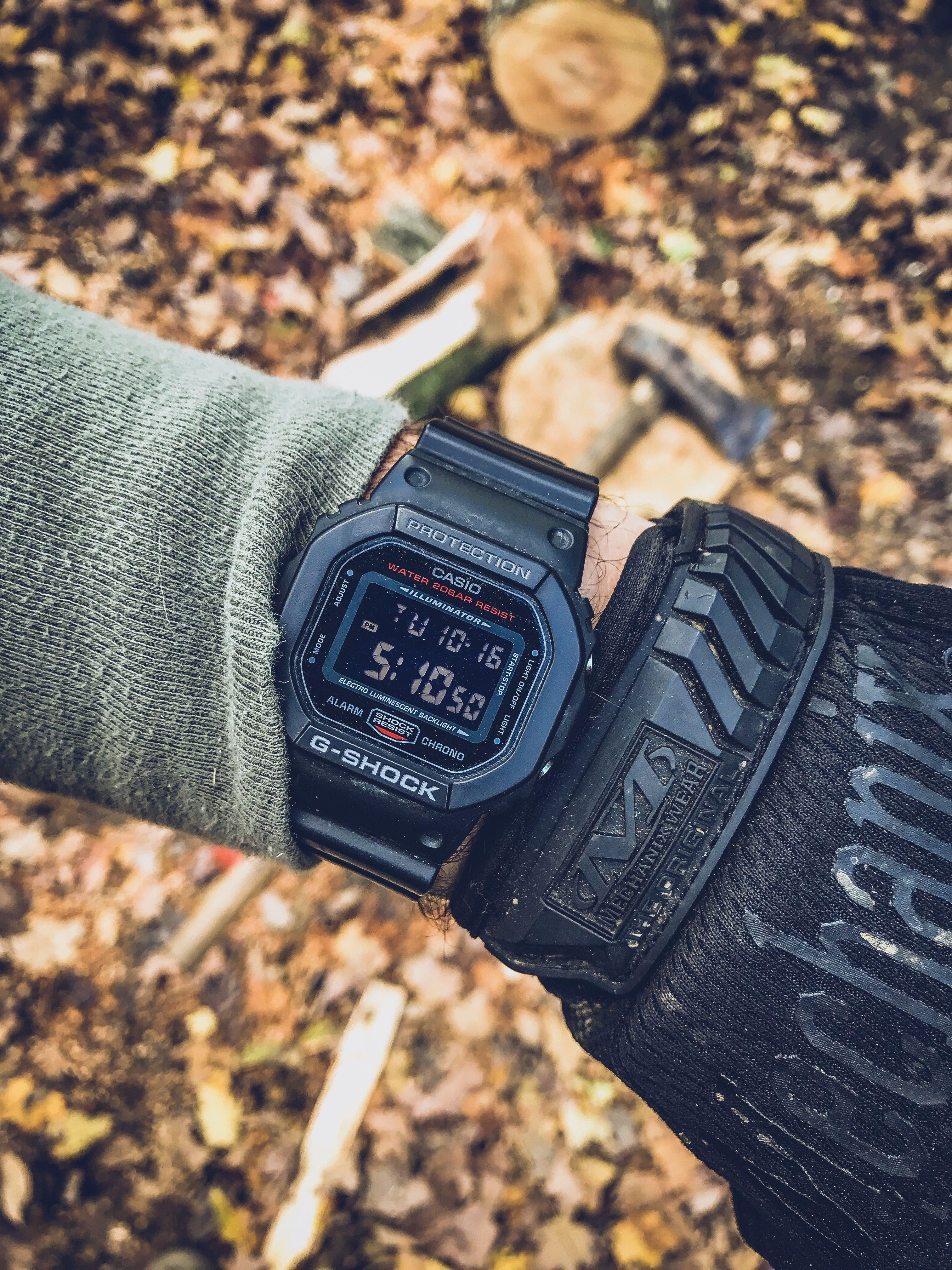 65e0fc1f10b14 Casio G Shock DW-5600HR-1 Blacked out G Shock