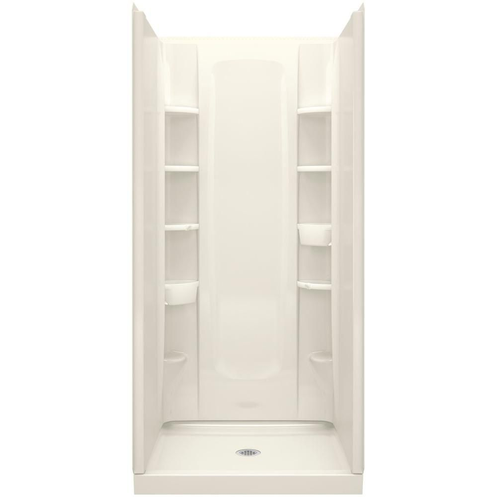 Sterling 34 In X 36 In X 72 1 2 In 4 Piece Shower Stall With