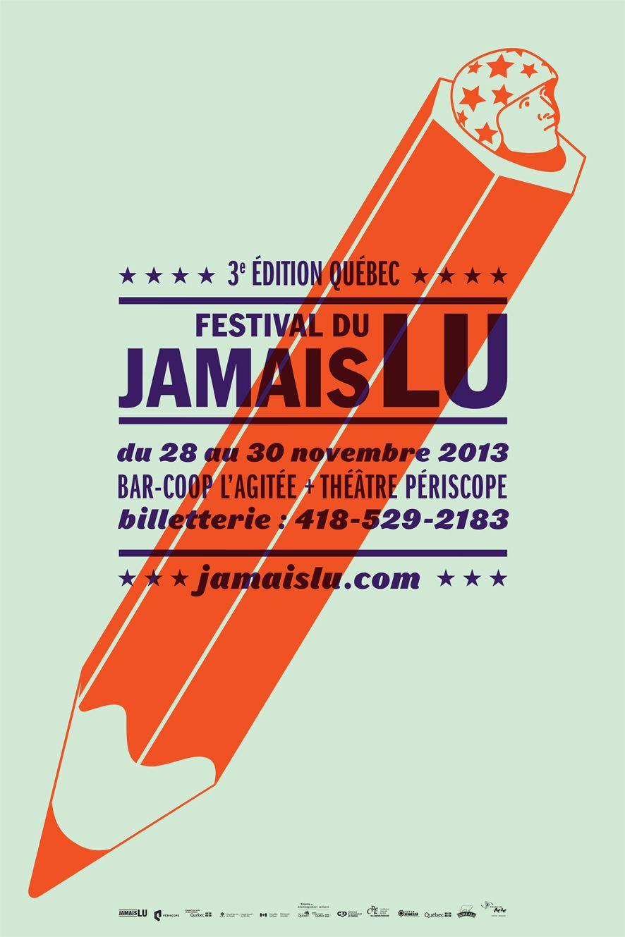 3e édition du Festival Jamais Lu, 2013