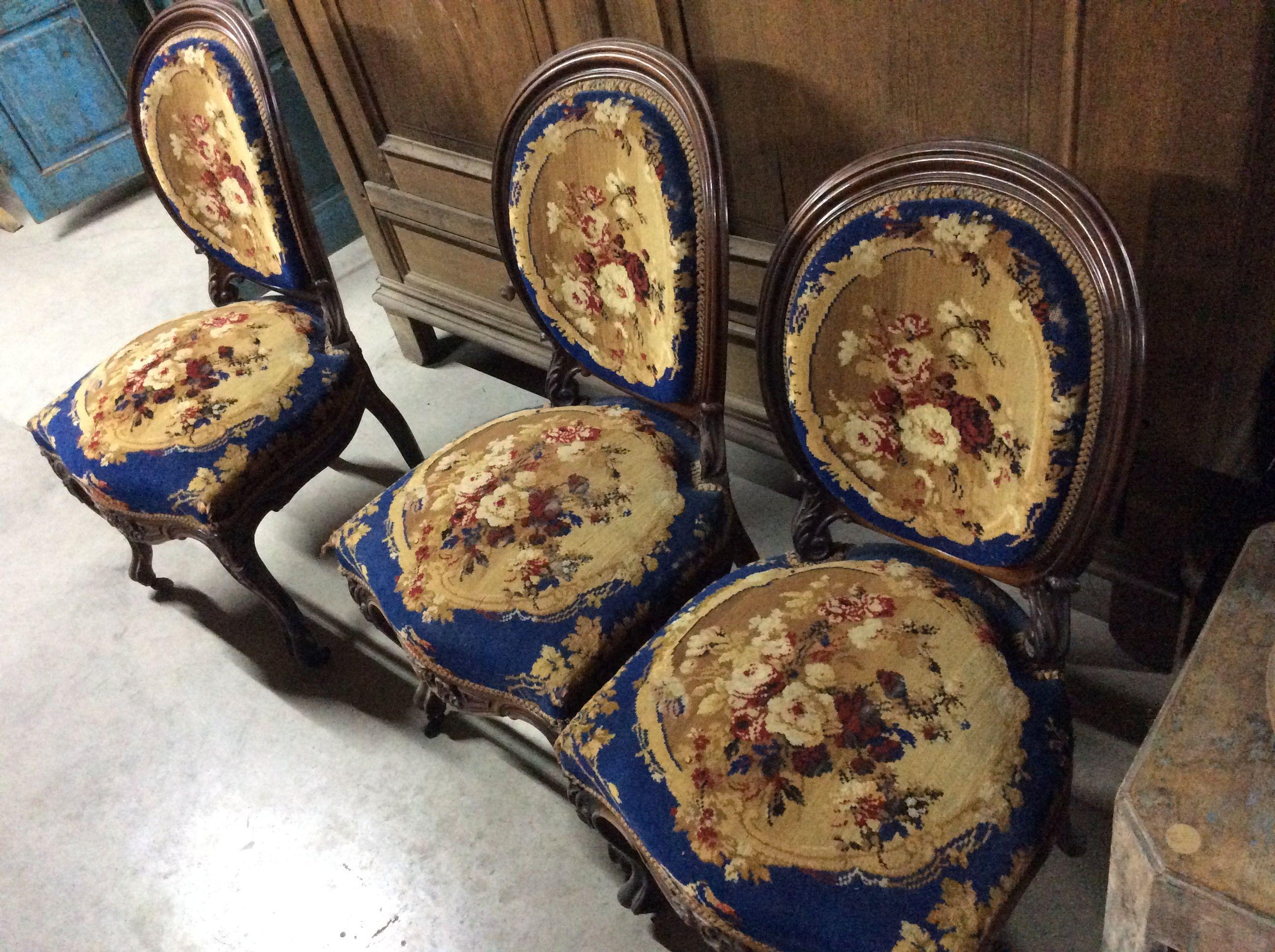 Antieke Stoelen Te Koop.6 Mooie Gestoken Antieke Stoelen Te Koop Bij Medussa Heist Op Den