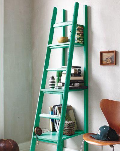 ideen zum selbermachen leiterregal selber bauen von der. Black Bedroom Furniture Sets. Home Design Ideas