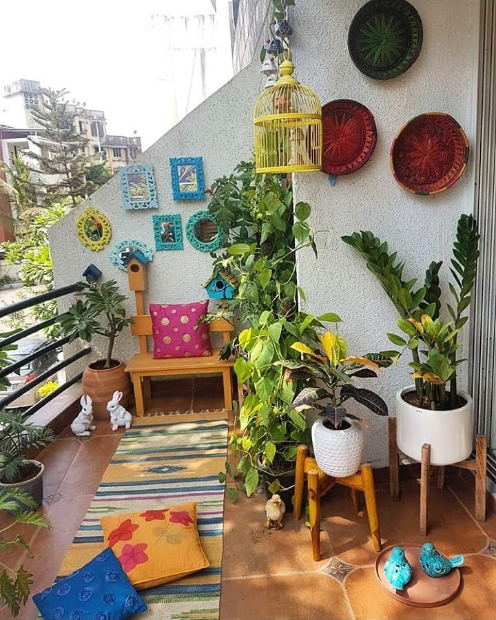"""Photo of Urban Company Homes on Instagram: """"@kajal8212 shared this image of her balcony with us 😍 and we think it looks absolutely revitalizing! 💕 What do you think? . Just the kind…"""""""