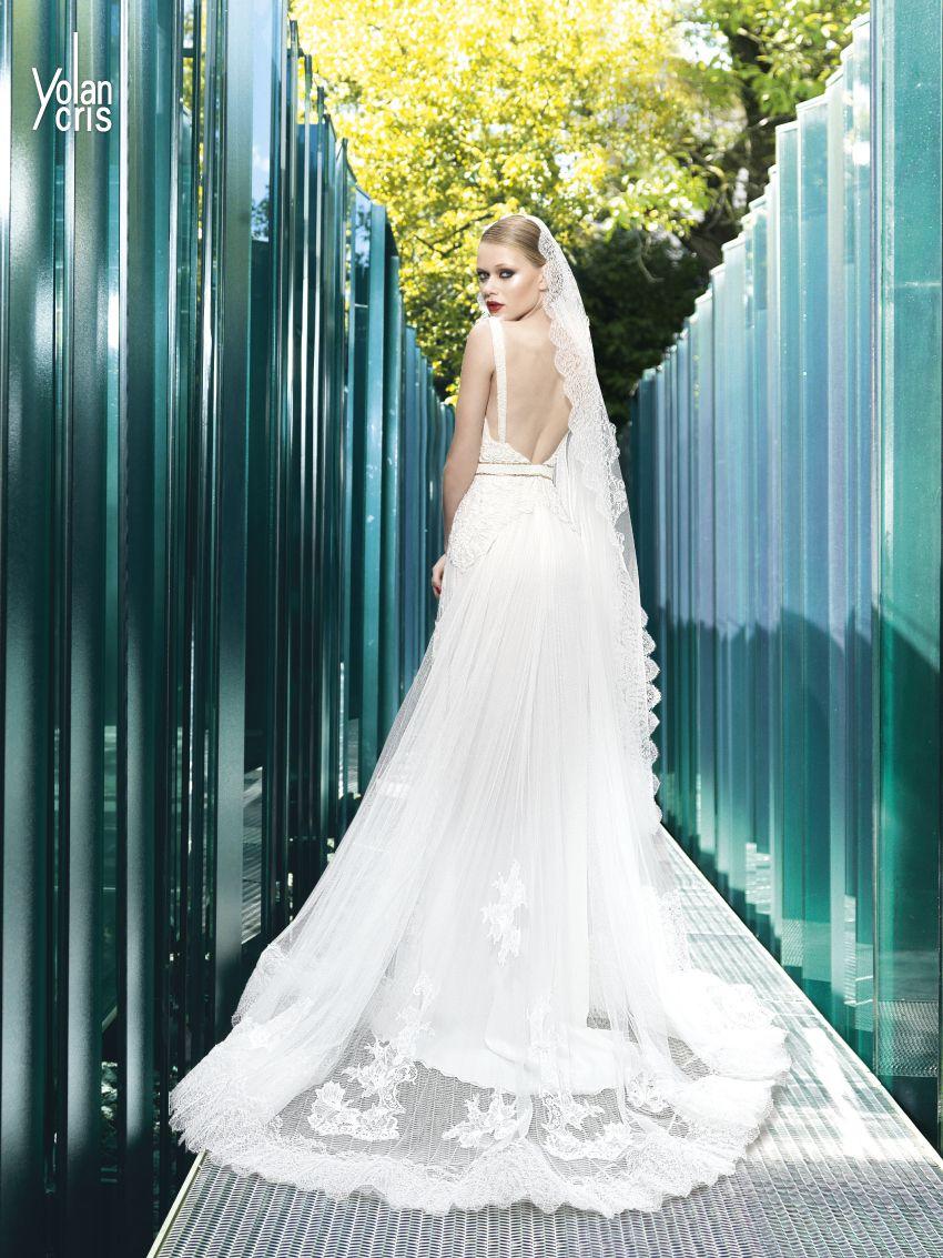 vestidos-novia-barcelona-yolan-cris-2015-ARIS VELO 705 CINTURON 701 ...
