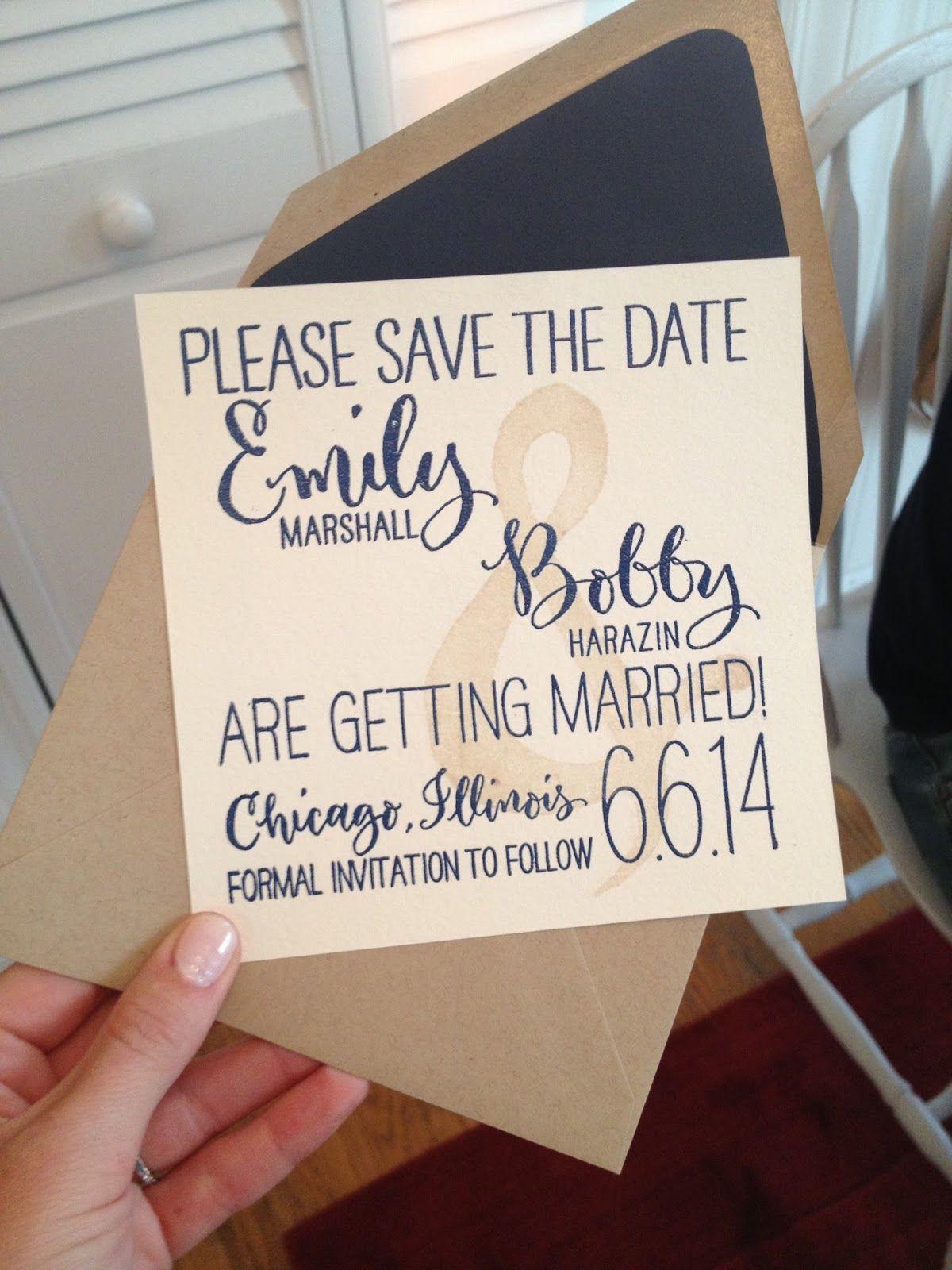 Creative Save The Date Wedding