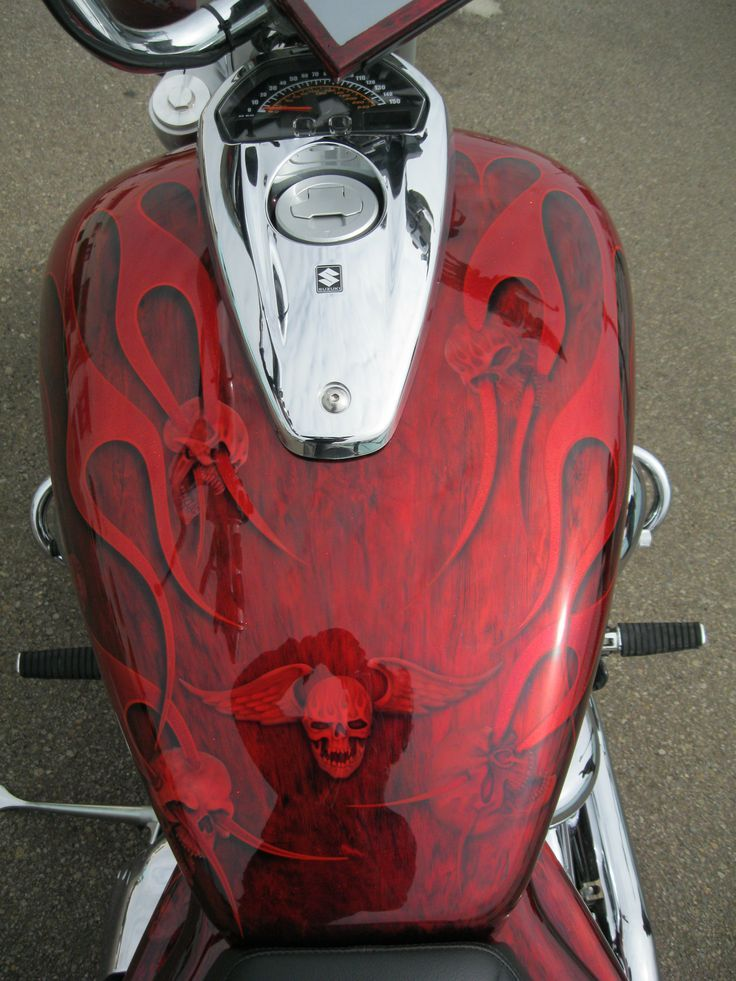 custom paint job | paint and pinstripes | Motorcycle paint ...