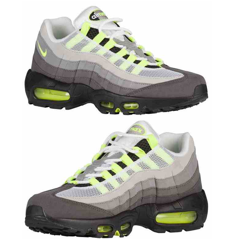 official photos f15ad 60ce1 NIKE AIR MAX 95 OG NEON VOLT ASH BLACK COOL GREY 554970 071  tbh