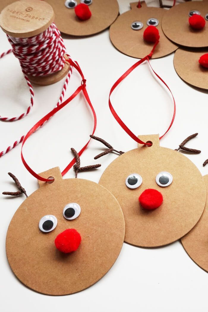 Rudolph Gift Tags Easy Christmas Craft Christmas Gift