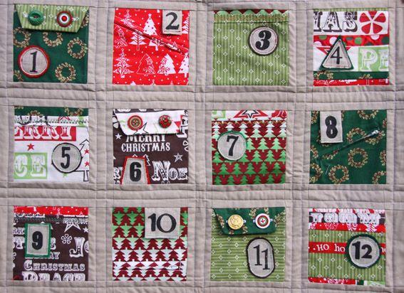 Christmas Advent Calendar Quilt – Free Pattern Download | Advent ... : advent calendar quilt - Adamdwight.com