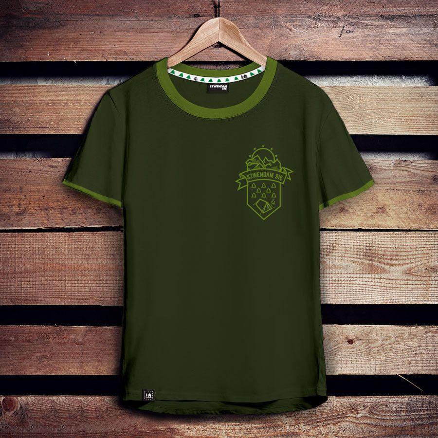 Koszulka Meska Szwendam Sie Maly Namiot Khaki With Images