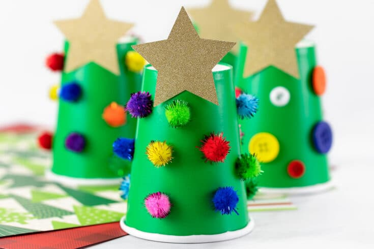 Paper Cup Christmas Tree Christmas Crafts For Kids Easy Christmas Crafts Kids Christmas