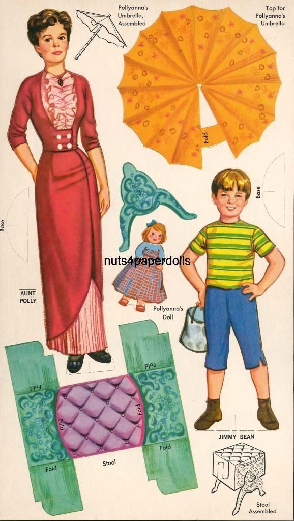 Hayley Mills paper dolls from Pollyanna / eBay