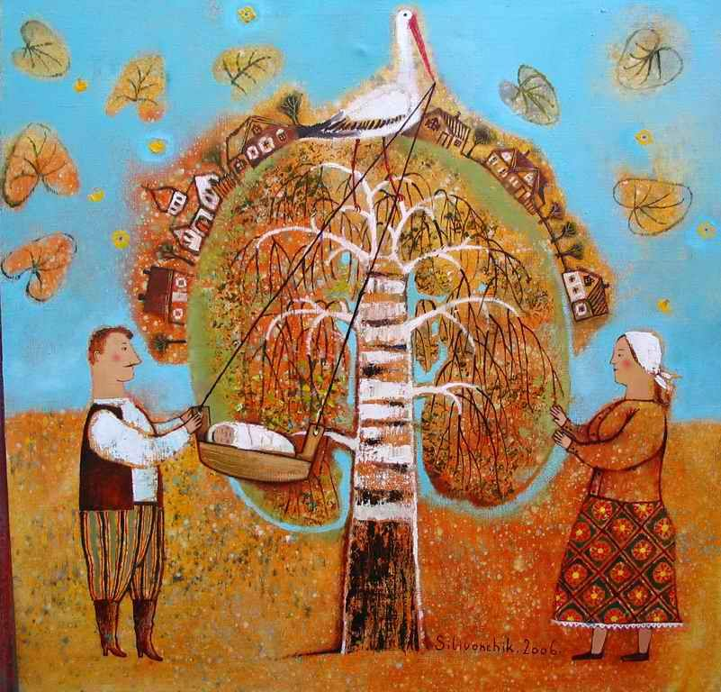 Stork Has Brought by Anna Silivonchik