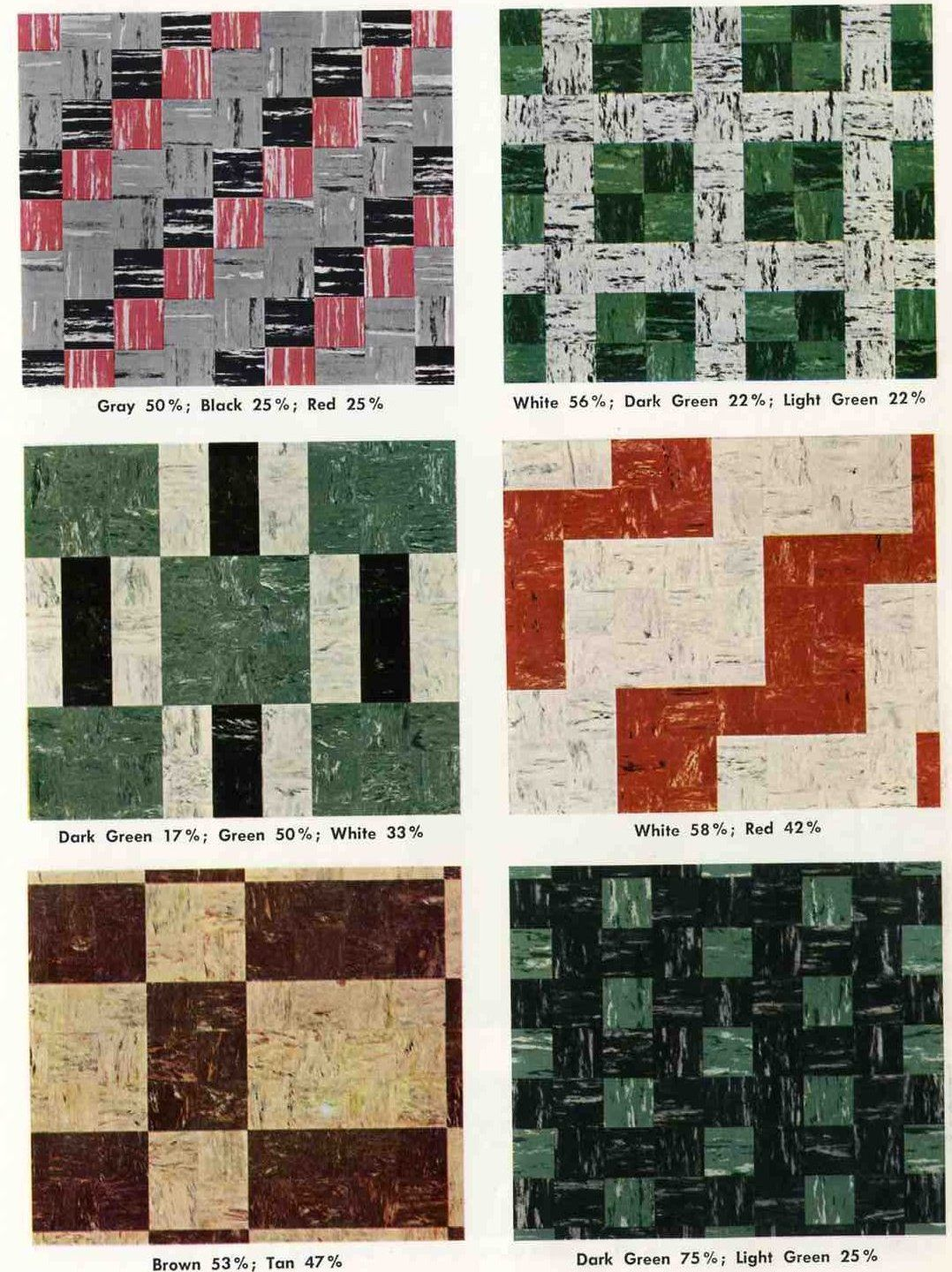 30 Patterns For Vinyl Floor Tiles From The 1950s Floor