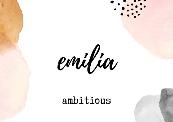 Emilia Name Wallpaper Baby Names Name Design